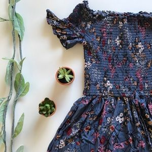 🌸 Smocked Off The Shoulder Floral Dress 🌸